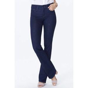 NYDJ dark wash barbara bootcut jeans 8